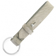 Cuoio key chain 15 mm Neutral Grey