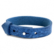 15mm leather Cuoio bracelets for 20mm cabochon Victoria Blue