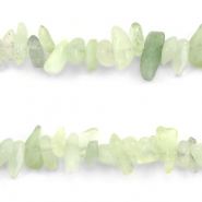 Chips stone beads Light crysolite Green