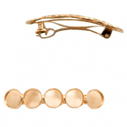 Settings hairpin metal for 5 cabochons 12 mm Rose Gold