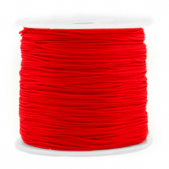 Macramé bead cord 0.8mm Red