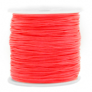 Macramé bead cord 0.8mm Living Coral Red