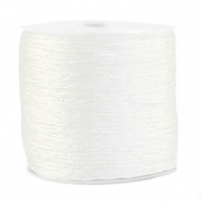 Macramé bead cord metallic 0.5mm White