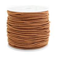 Coloured elastic cord 1.5mm Chestnut brown