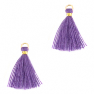 Tassels 1.5cm Gold-Chive Blossom Purple