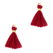 Tassels 1.5cm Gold-Ruby Wine Red