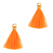 Tassels 1.5cm Gold-Flame Orange