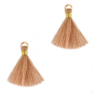 Tassels 1.5cm Gold-Soft Tan Brown