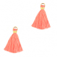 Tassels 1.5cm Gold-Canyon Sunset Pink