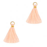 Tassels 1.5cm Gold-Bleached Apricot
