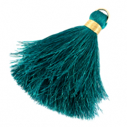 Tassels 6cm Limited edition Dark Baltic Blue-Warmgold