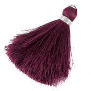 Tassels 6cm Limited edition Muted Violet Purple-Silver