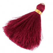Tassels 6cm Limited edition Red Dahlia-Warmgold