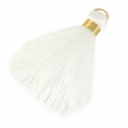 Tassels 6cm Limited edition Bright White-Warmgold
