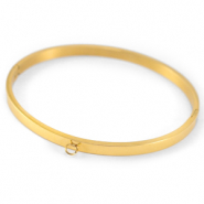 Stainless steel bracelets with loop Gold