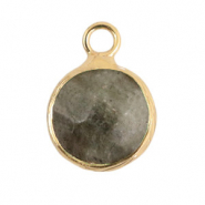 Natural stone charms 10mm Fossil Grey-Gold