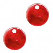 Resin pendants round 12mm Chilli Red