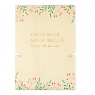 "Jewellery cards wood ""jingle bells"" Natural (natural wood colour)"