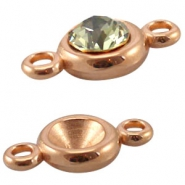 DQ European metal beads rose gold DQ European metal rose gold settings