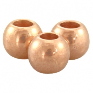 DQ European metal beads rose gold DQ European metal rose gold beads