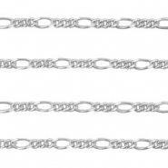 DQ European metal findings belcher chain Silver