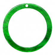 Resin pendants round 35mm Classic Green