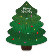 "Jewellery cards christmas tree ""merry christmas"" Green"
