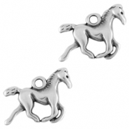 DQ European metal charms horse Antique Silver (nickel free)