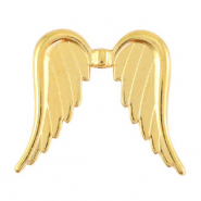 DQ European metal beads angel wings Gold (nickel free)