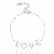 "Stainless steel bracelets ""love"" Silver"