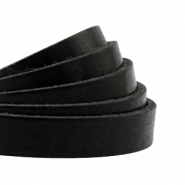 DQ European leather flat 10 mm Black