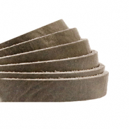 DQ European leather flat 5 mm Beluga Grey-Taupe