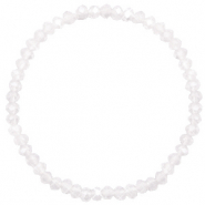 Top faceted bracelets 4x3mm White Opal-Pearl Shine Coating