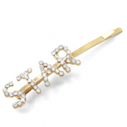 "Hair accessories bobby pin rhinestone ""STAR"" Crystal-Gold"