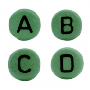Acrylic letter beads mix Dark green