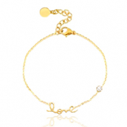 Stainless steel bracelet LOVE Gold
