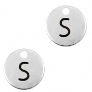DQ European metal charms initial S Antique Silver (nickel free)