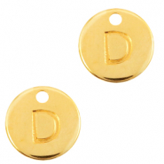 DQ European metal charms initial D Gold (nickel free)