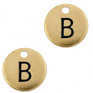 DQ European metal charms initial B Antique Bronze (nickel free)