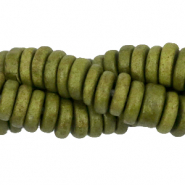 DQ Greek ceramic beads disc 6mm Chive Green