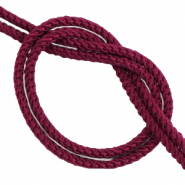 DQ trendy cord woven Port Aubergine Red