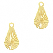 Brass TQ metal charms drop Gold