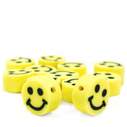 Polymer beads Smiley Yellow