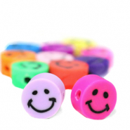 Polymer beads Smiley Multicolour