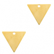 DQ European metal charms triangle Gold (nickel free)