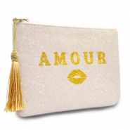 Make-up bag Amour Natural White-Gold