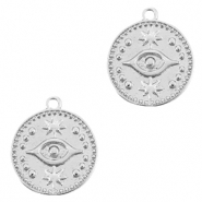 Brass TQ metal charms Eye Silver