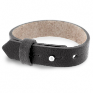 Cuoio bracelet leather 15 mm for 20 mm cabochon Dark Anthracite