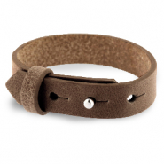 Cuoio bracelet leather 15 mm for 20 mm cabochon Alcazar Brown