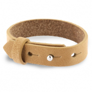 Cuoio bracelet leather 15 mm for 20 mm cabochon Light Cognac Brown